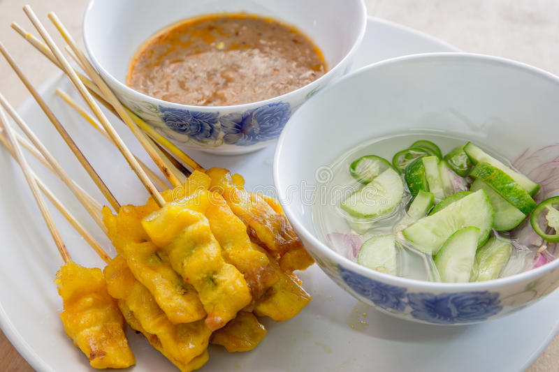 Pork satay stock photography