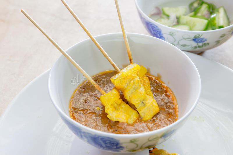 Pork satay royalty free stock photos