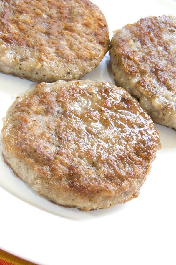 Pork Sausage Patties Stock Images