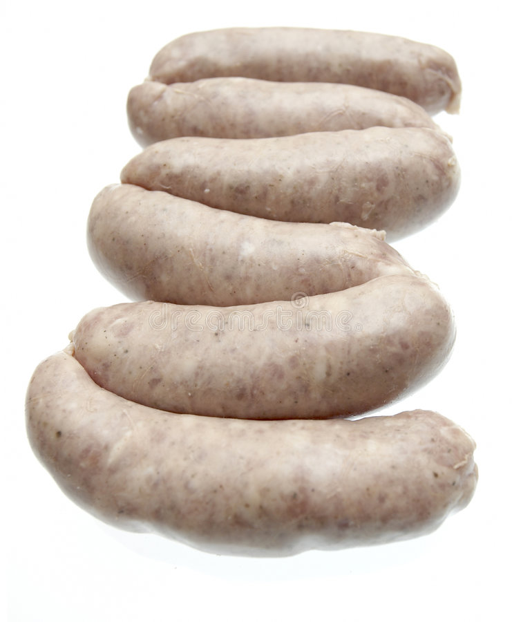 Pork sausages royalty free stock image