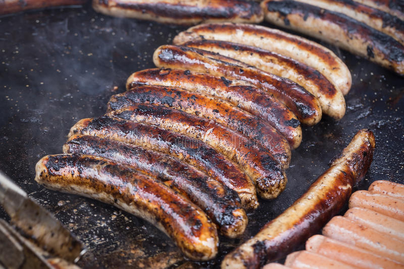 Download Pork Sausages stock photo. Image of bangers, cooked, cuisine - 53152496