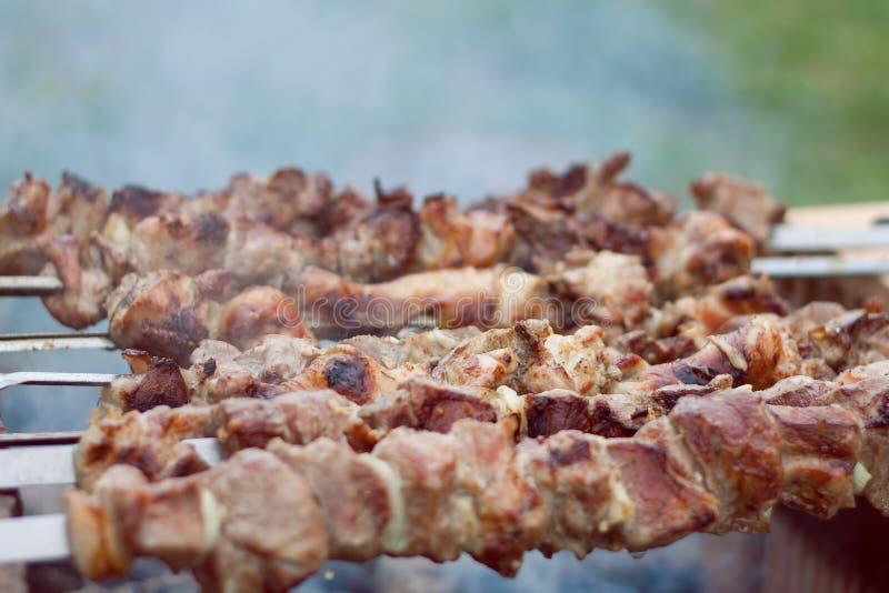 Pork shashlik royalty free stock photography