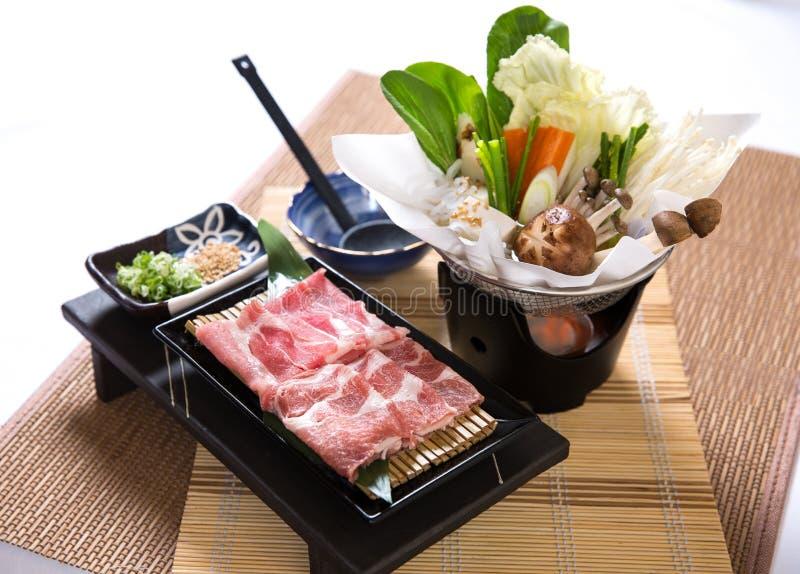 Pork Slices Hotpot royalty free stock image