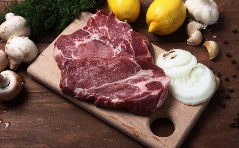 Download Pork steak stock image. Image of studio, chop, portion - 17137963