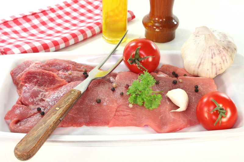 Pork steaks royalty free stock photo