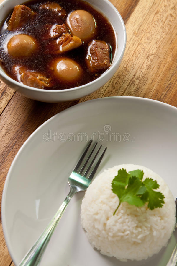 Free Pork Stew With Egg And Rice. Stock Photography - 16901482