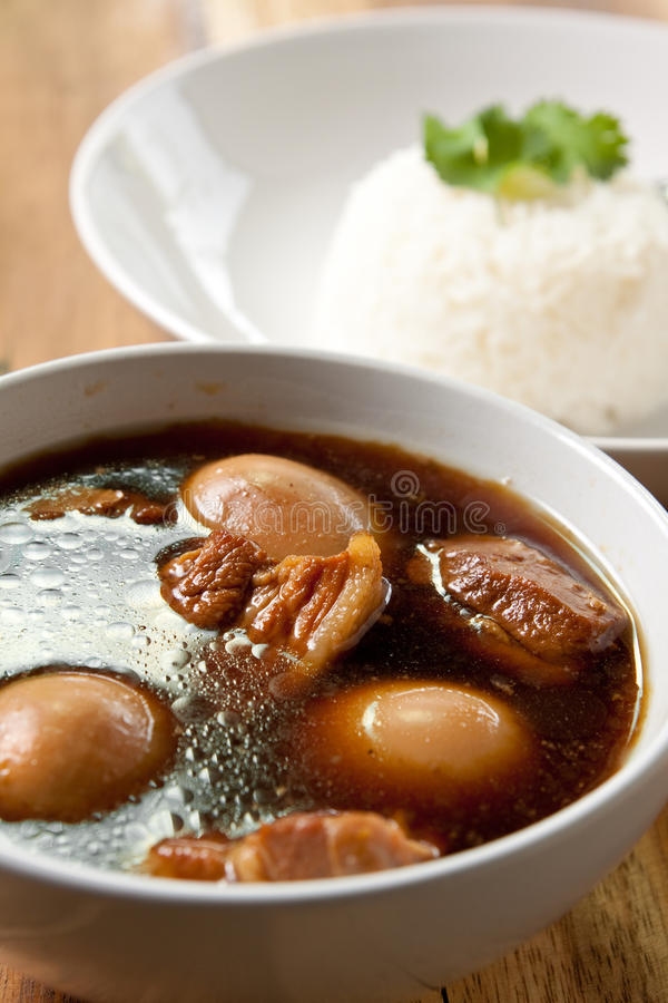 Free Pork Stew With Egg And Rice. Royalty Free Stock Photo - 16901705