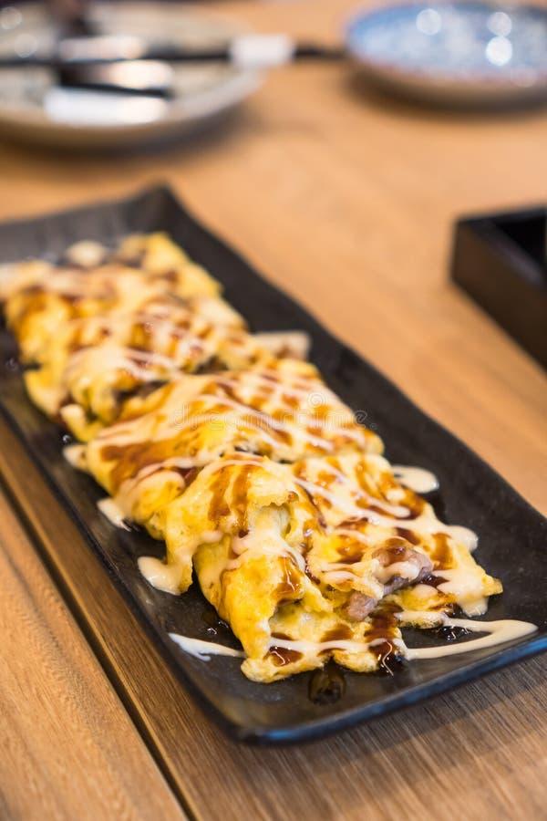 Pork Strips In Japanese Mayo Salad Stock Photo - Image of