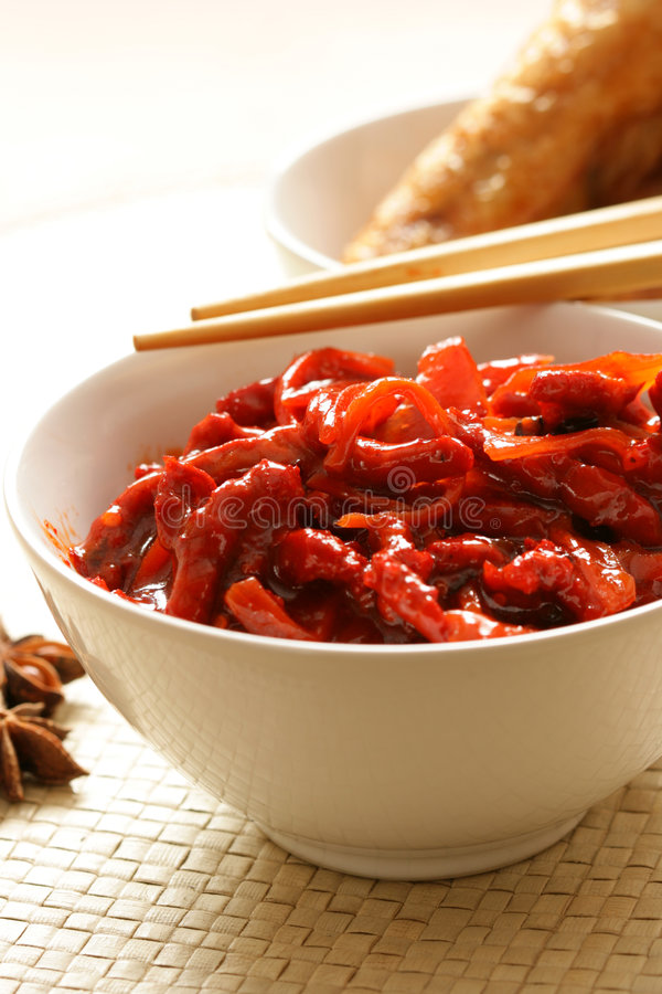 Download Pork and vegetables stock photo. Image of cookery, exotic - 2321028