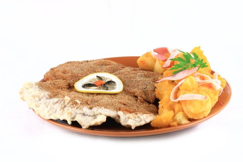 porkschnitzel royaltyfri foto