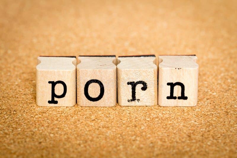 Pornografi - alfabetstämpelbegrepp royaltyfri bild