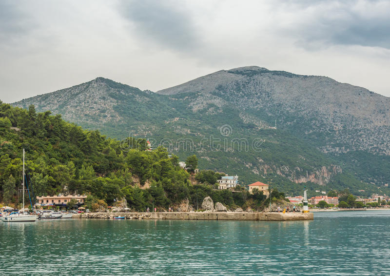 Poros Bay Ionian Islands royalty free stock images