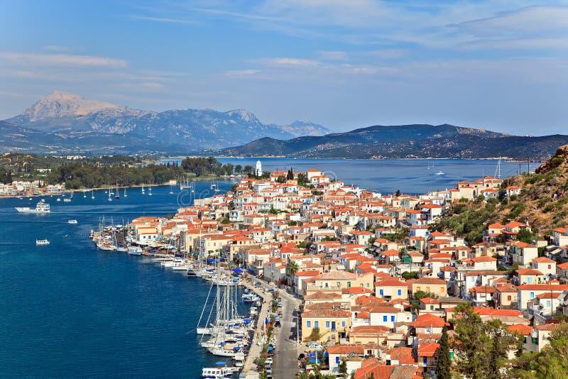 Poros, Griekenland royalty-vrije stock afbeelding