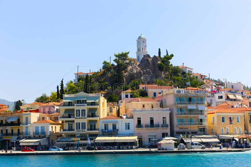Poroseiland - Griekenland royalty-vrije stock foto's