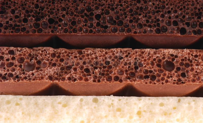 Porous chocolate stock photography