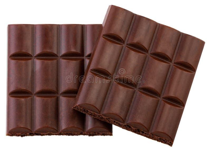 Porous chocolate bar isolated on white background.  stock photo