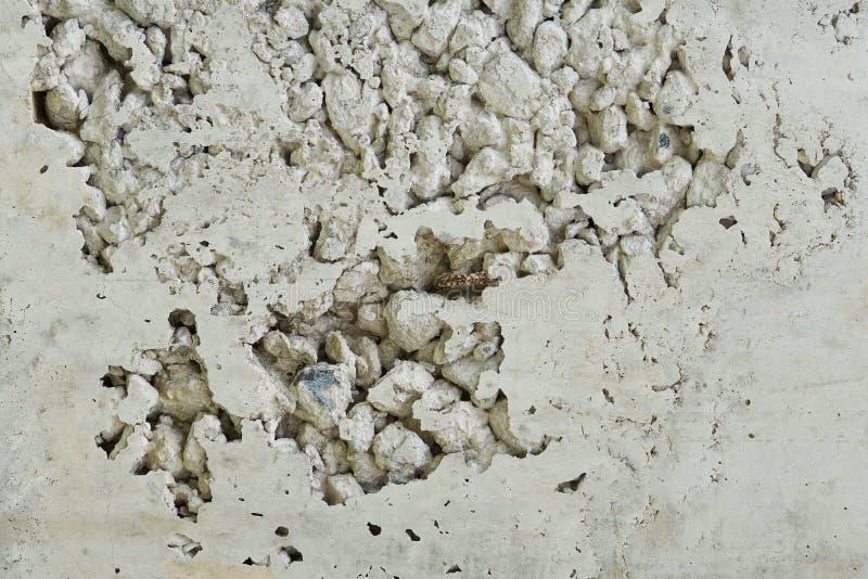 Porous concrete wall stock photo