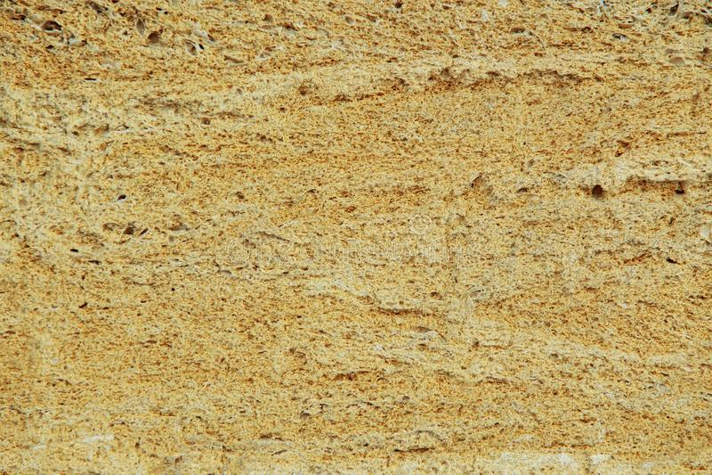 Porous stone texture. Rough weathered porous sandstone surface texture close up stock image