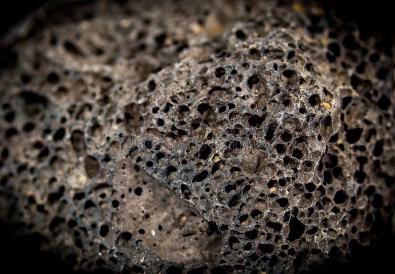 Porowata Ogniowej skały lawy skała fotografia stock
