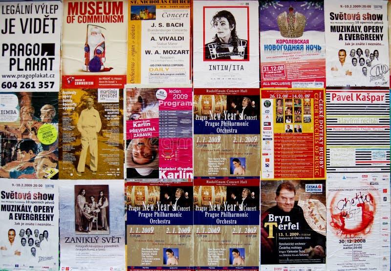 porozumiewa się muzycznych plakaty Prague obrazy royalty free