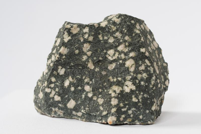 Porphyrite mineral on white background stock photo