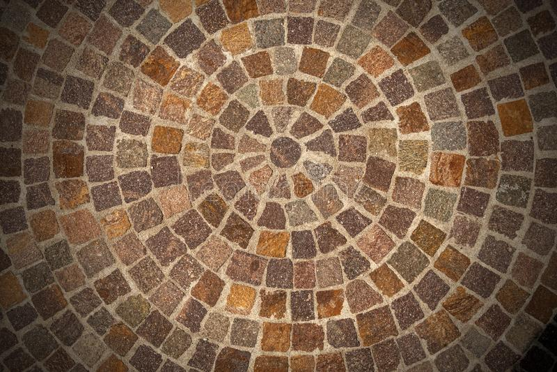 Porphyry stone floor called Sanpietrini or Sampietrini stock photo