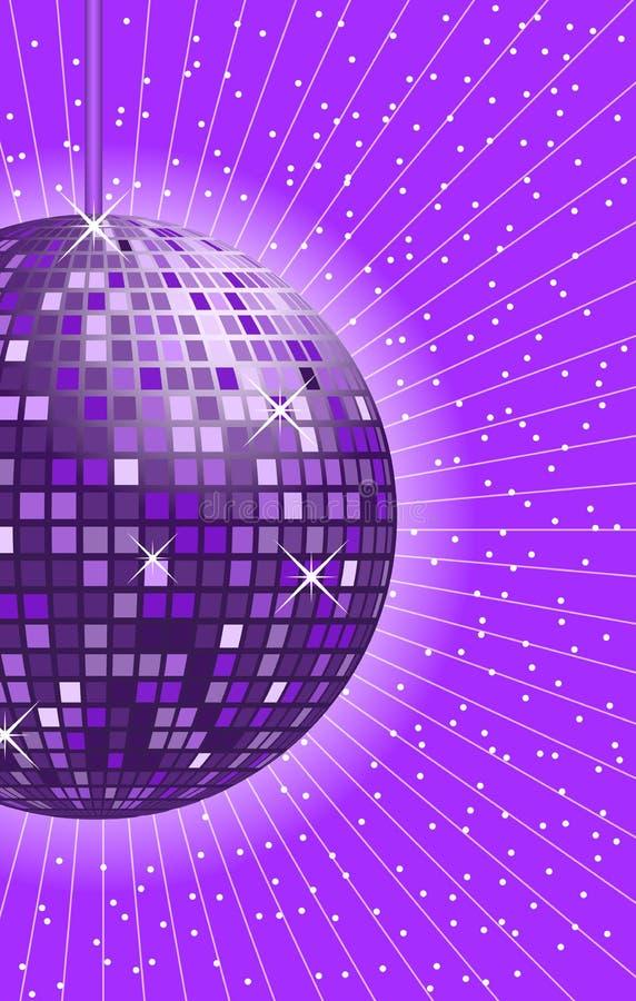 Porpora della sfera della discoteca illustrazione di stock