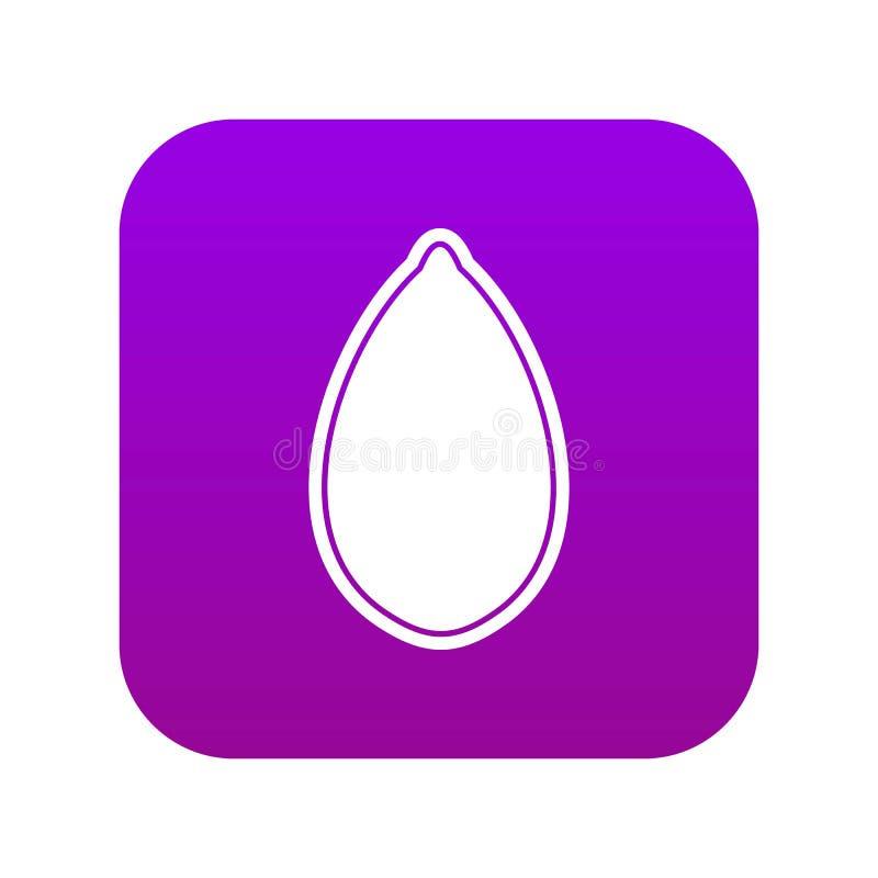 Porpora digitale dell'icona del seme di zucca royalty illustrazione gratis