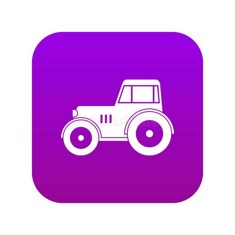 Porpora digitale dell'icona del trattore illustrazione di stock