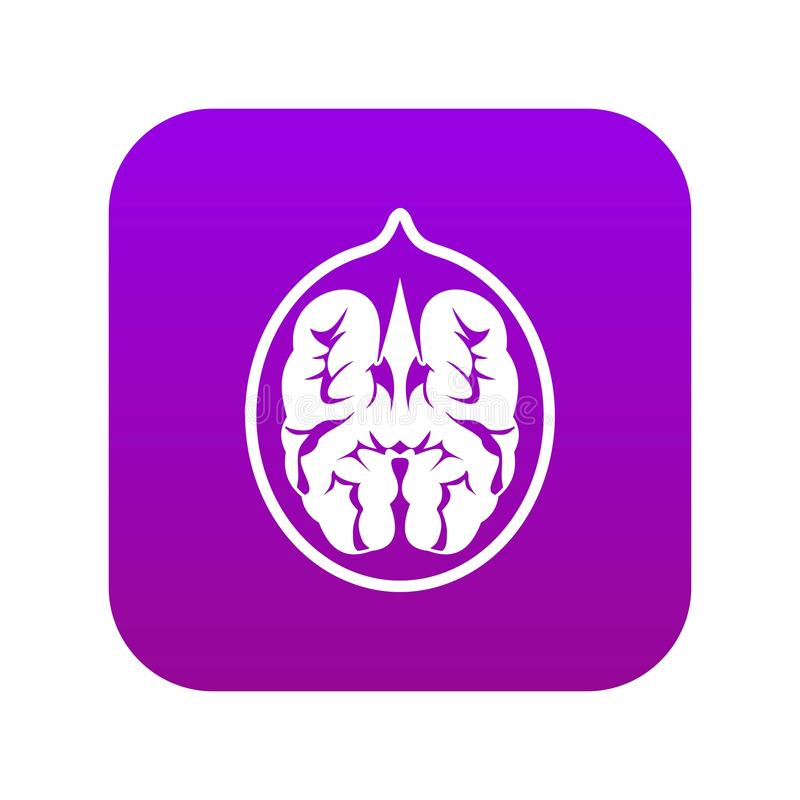 Porpora digitale dell'icona della noce royalty illustrazione gratis
