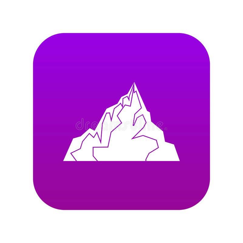 Porpora digitale dell'icona dell'iceberg illustrazione di stock