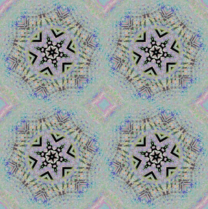 Porpora pastello di gray blu del motivo a stelle delicato regolare illustrazione vettoriale