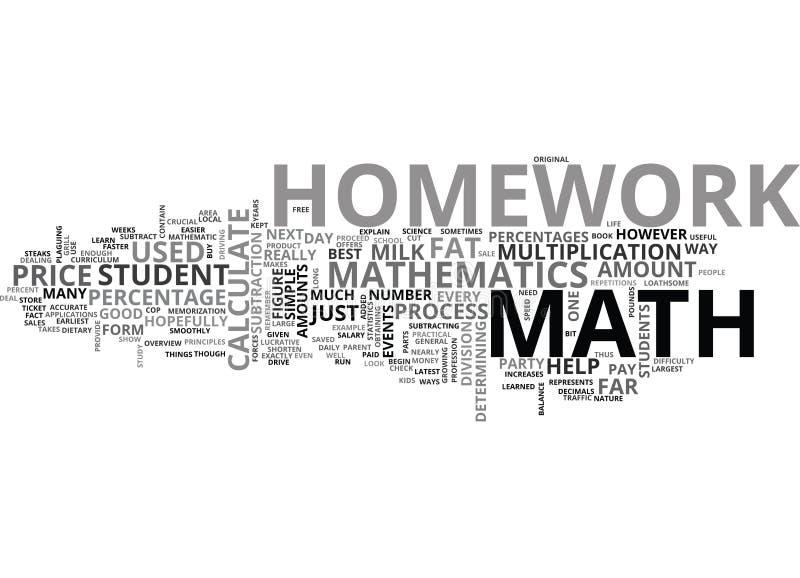 Porqué haga la nube de la palabra de la preparación de la matemáticas ilustración del vector
