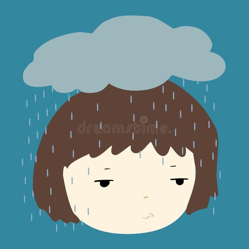 Porqué lo hace siempre lluvia en mí libre illustration
