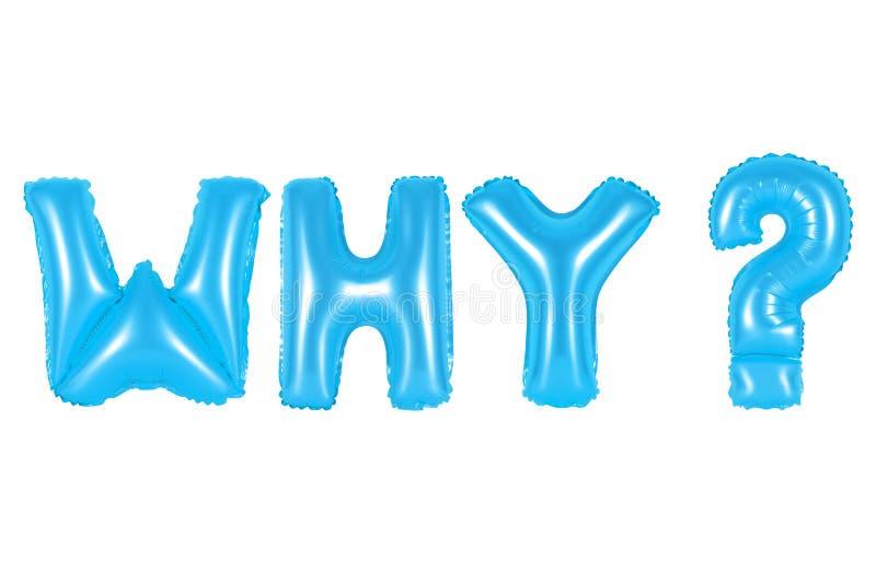 Porqué, pregunta, color azul imágenes de archivo libres de regalías