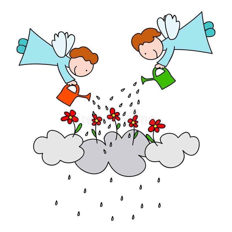 Porque chove ilustração stock