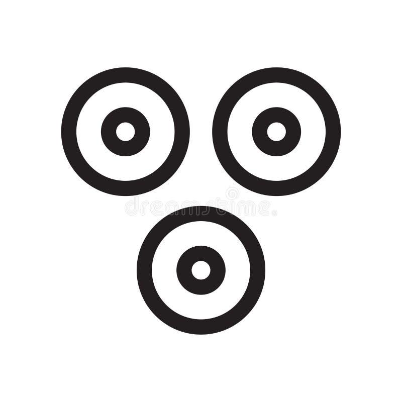 Porque sinal e símbolo do vetor do ícone do símbolo isolados no fundo branco, porque conceito do logotipo do símbolo ilustração do vetor