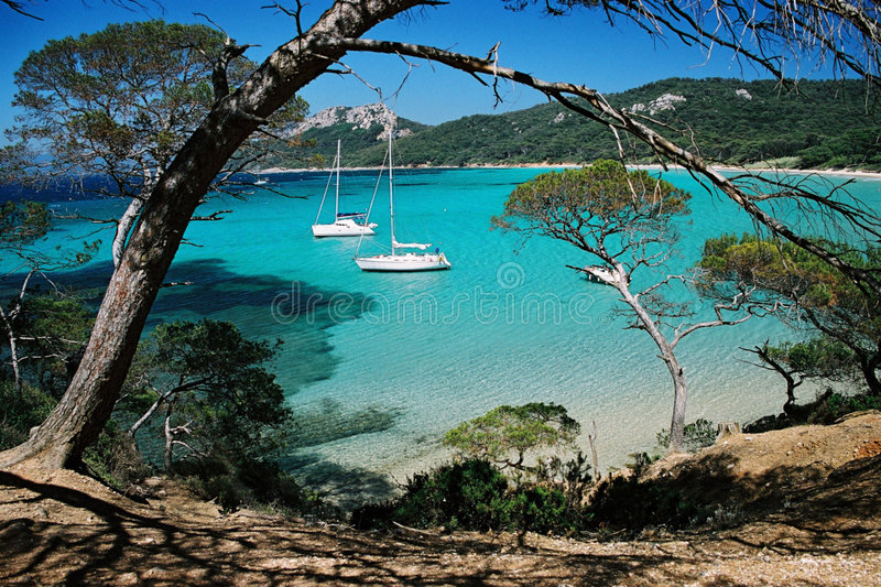 Porquerol beach royalty free stock image