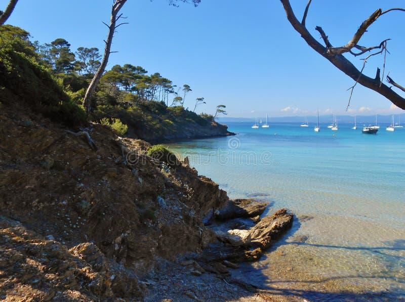 Porquerolles-Insel, Hyeres, Frankreich lizenzfreies stockfoto