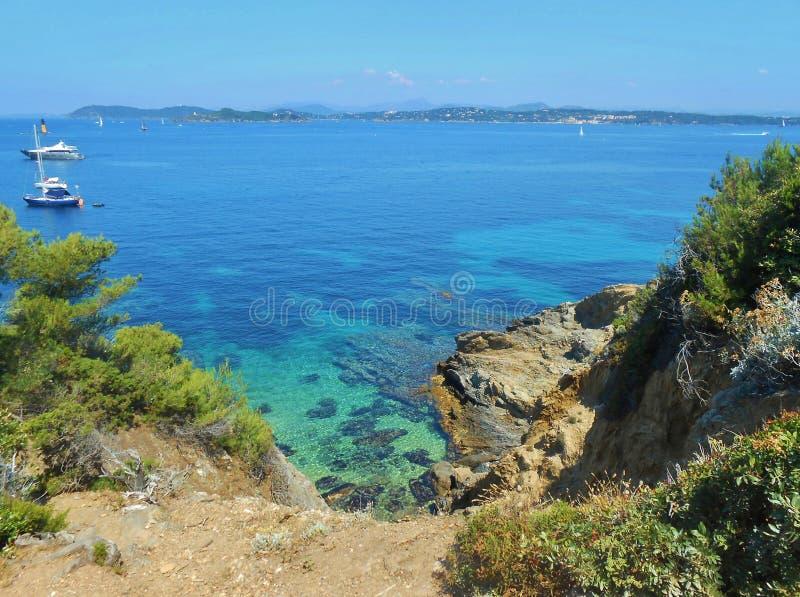 Porquerolles-Insel, Hyeres, Frankreich stockfotos