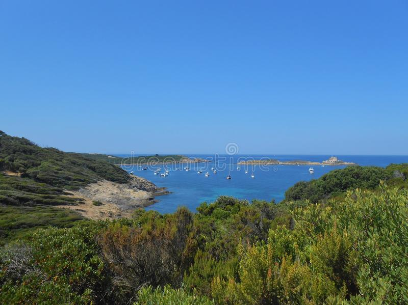 Porquerolles-Insel, Hyeres, Frankreich lizenzfreie stockfotos