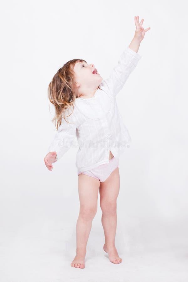 Porrait dello studio del bambino sveglio fotografia stock