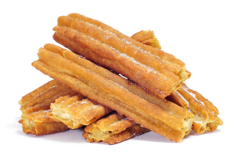 Porras, churros grossos típicos de Spain fotos de stock royalty free