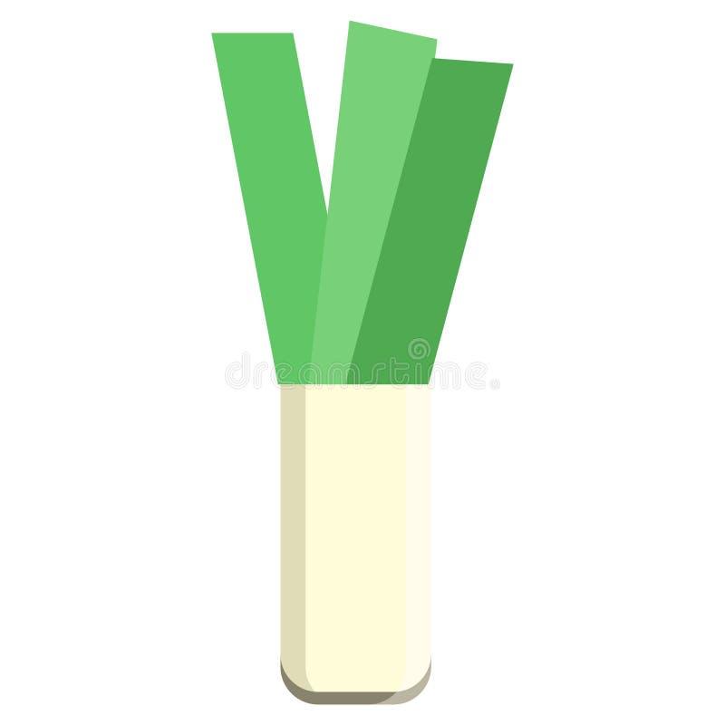 Porreegrüne Gemüseikone, Vektorillustration lizenzfreie abbildung