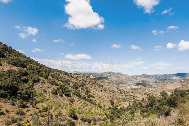 Porrera dorp in Tarragona, Spanje royalty-vrije stock fotografie