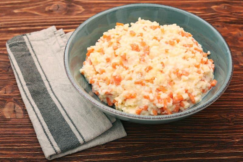 Porridge del miglio con la zucca fotografia stock