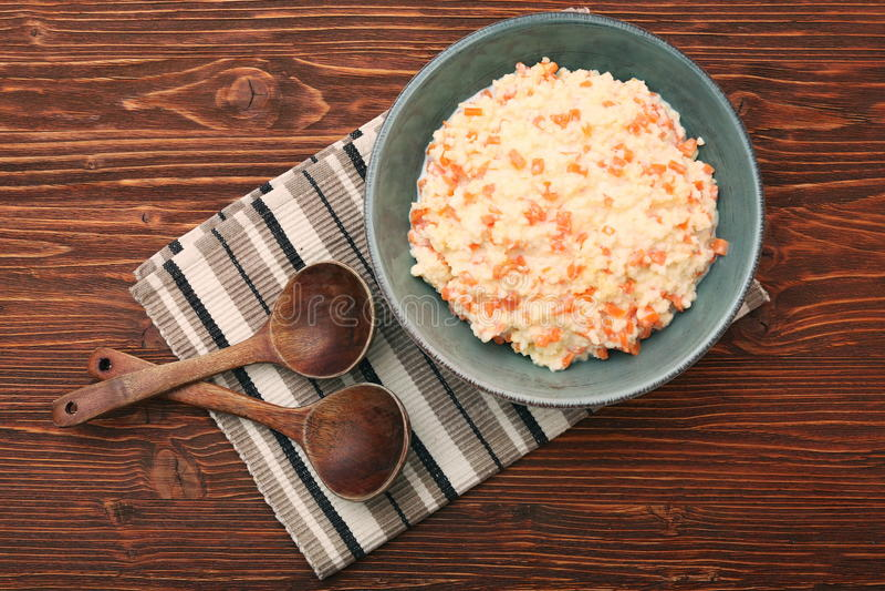 Porridge del miglio con la zucca immagine stock libera da diritti