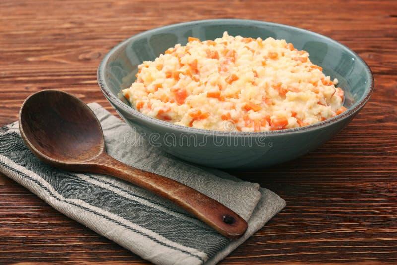 Porridge del miglio con la zucca fotografia stock libera da diritti