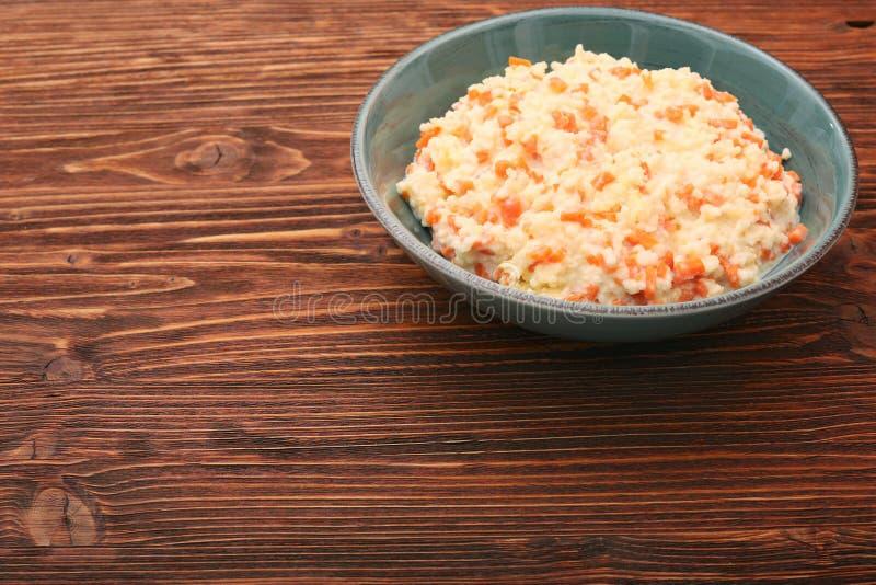 Porridge del miglio con la zucca immagini stock