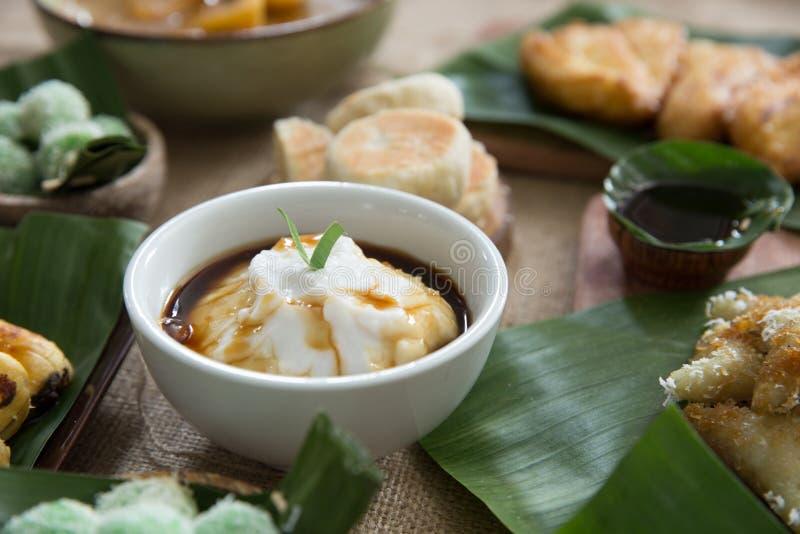 Porridge indonesiano di stile Sumsum di Bubur fotografia stock libera da diritti